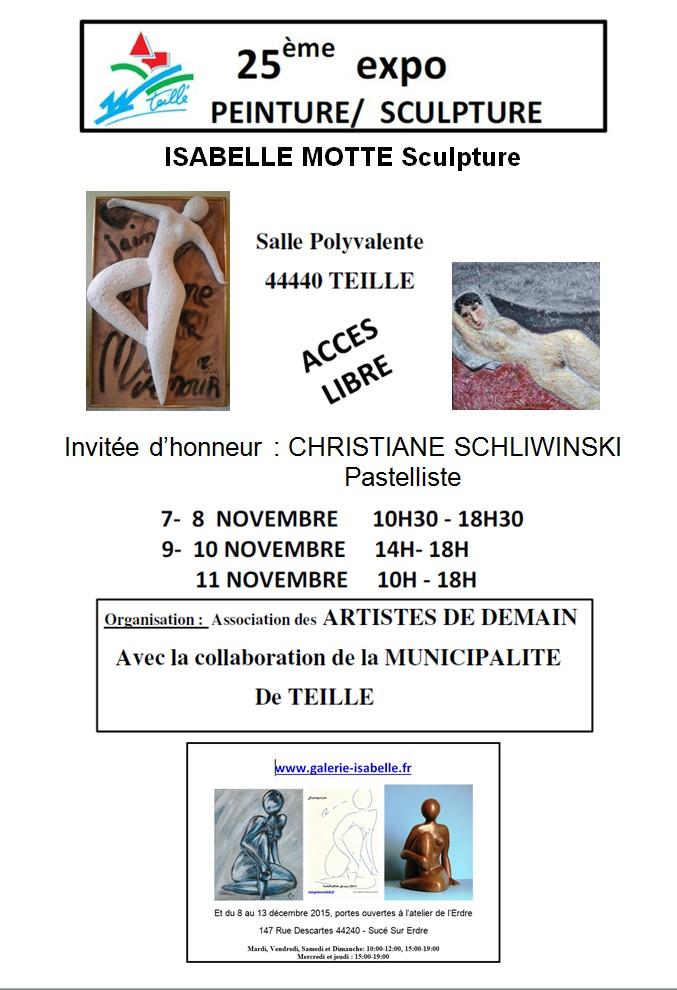 ISABELLE MOTTE Sculpture TEILLE 2015